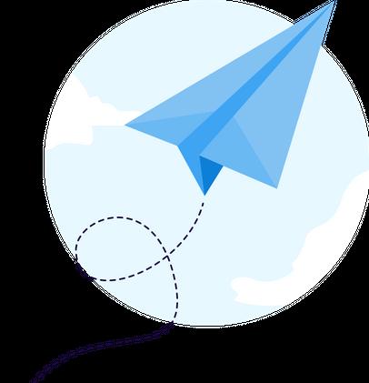 Paper plane graphic image